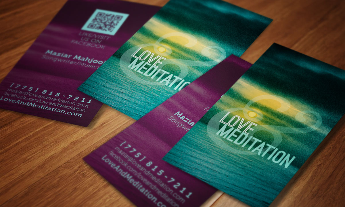 Love & Meditation - Business Cards 2