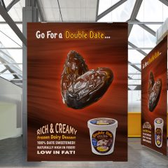 Double Date Ice Cream – Ad Poster Design