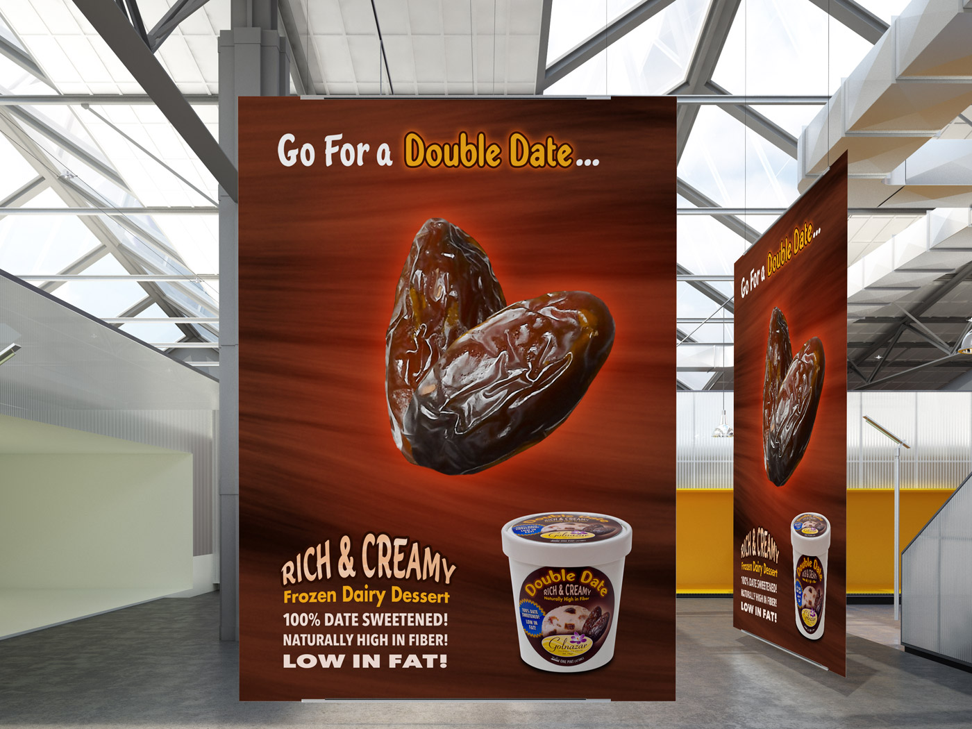 Double Date Ice Cream Ad Poster