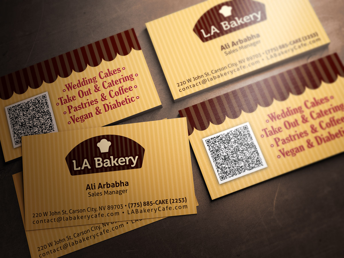 LA Bakery Business Cards 1
