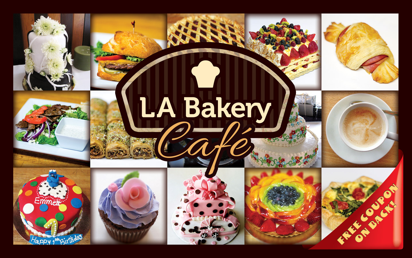 LABakery Postcard Front