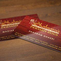 Shahram's – Business Cards