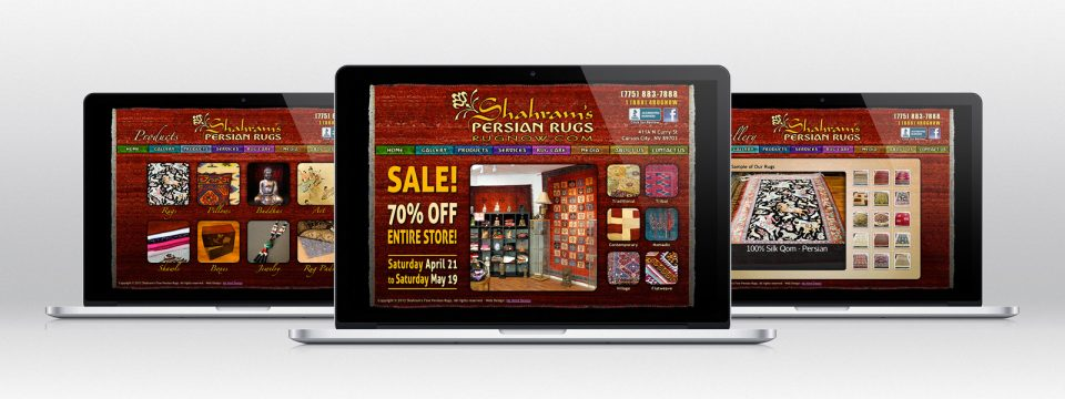 Shahram's – Website Design