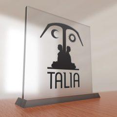 Talia Publishing – Glass Sign