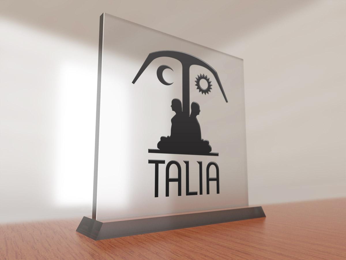 Talia Publishing Glass Sign