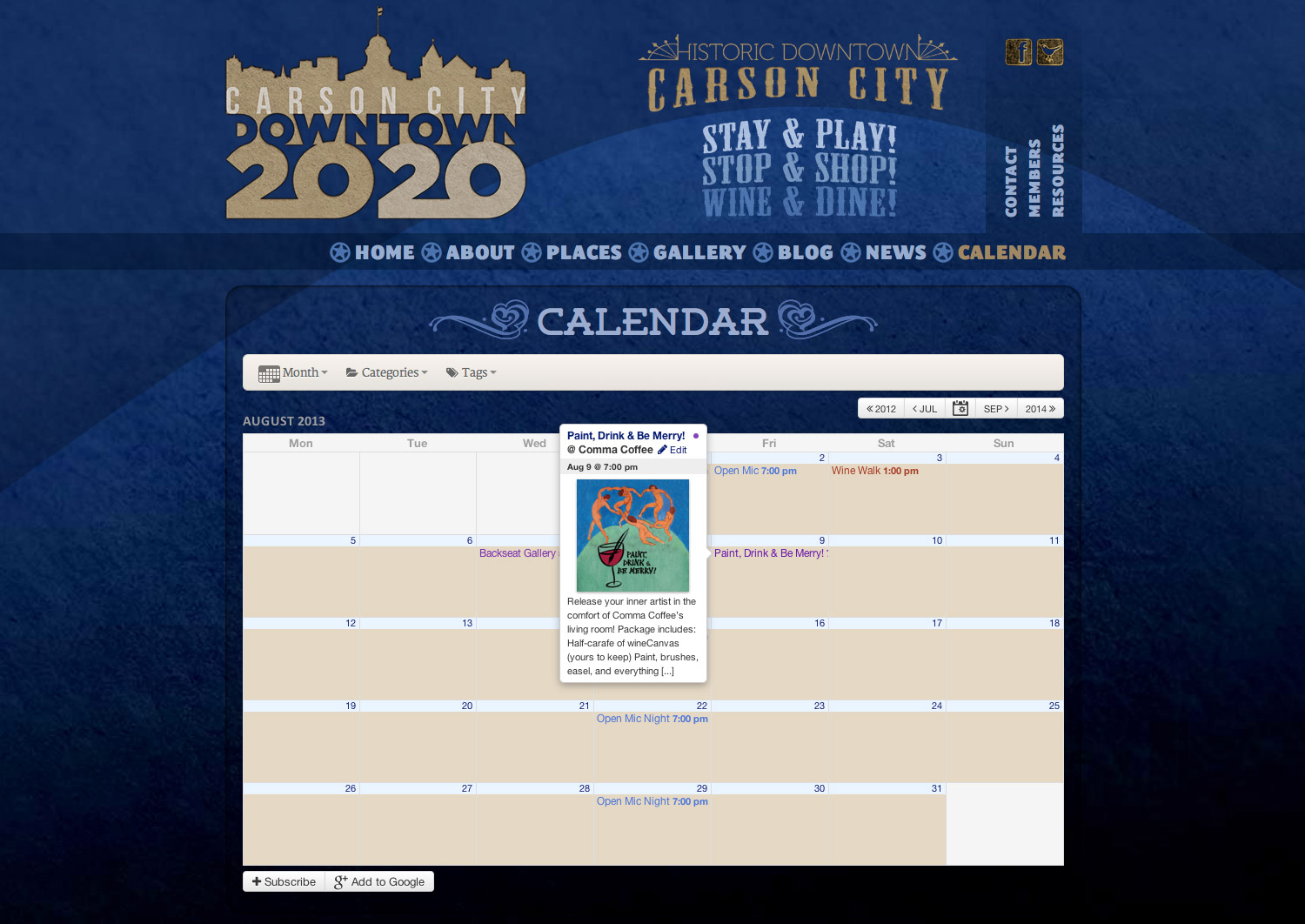 Carson City Downtown 20/20 - Events Calendar Page 3