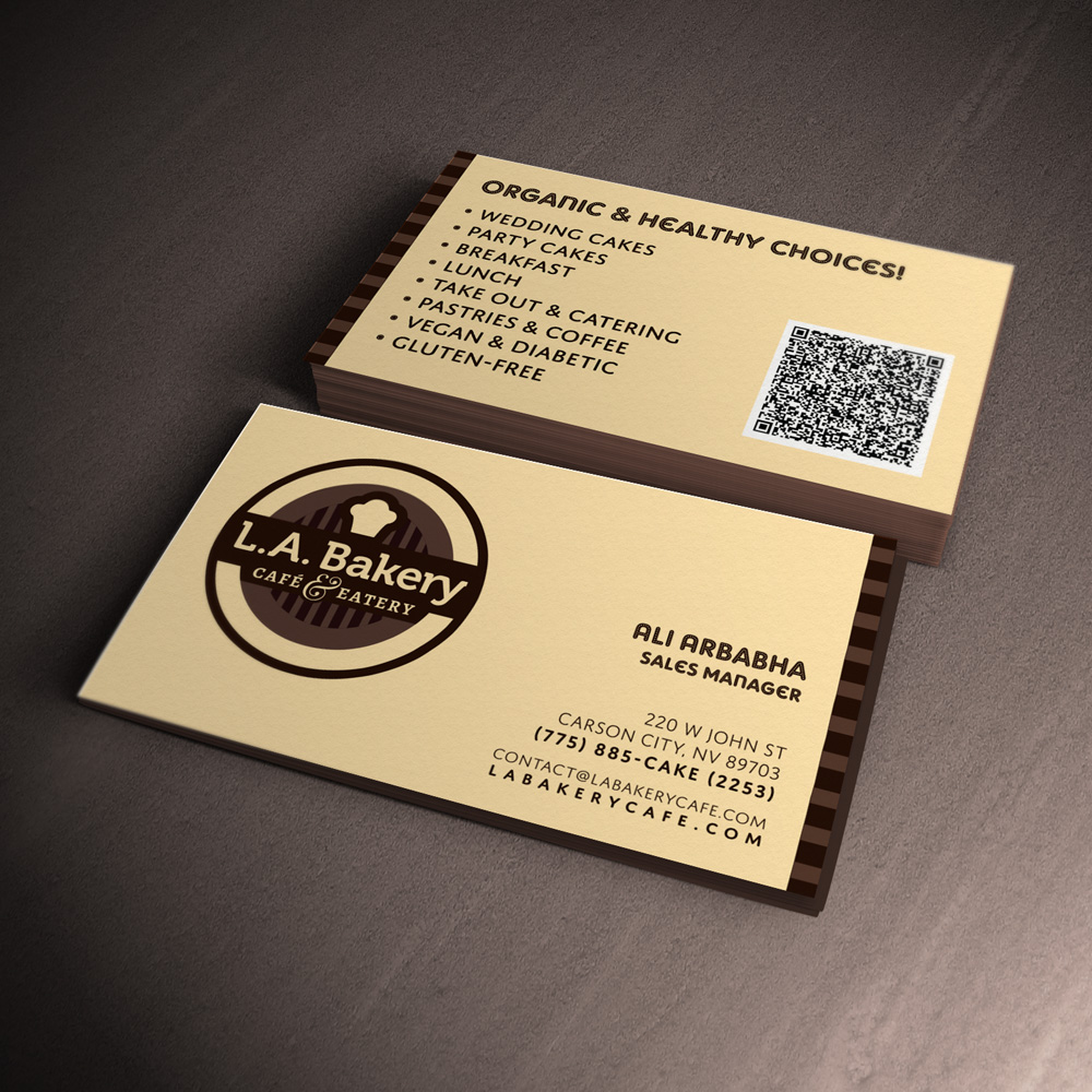 Wonderful business card bakery photos business card ideas bakery business card design la bakery logo bc redesign no mind design reheart Images